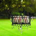Quick chandelier idea to be hung from trees.