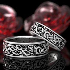 Dragon Wedding, Celtic Wedding, Wedding Men, Wedding Bands, Gothic Wedding, Celtic Knot Ring, Celtic Rings, Celtic Knots, Dragon Ring
