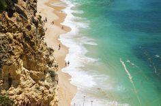 Sexy beaches allover algarve, Praia da Rocha is one of them right off the busy town of Portimao.