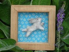 A Lovingly Hand Crafted Needle Felted Bunny Rabbit In A Glazed Wooden Box Frame by FeltTed on Etsy https://www.etsy.com/listing/240734834/a-lovingly-hand-crafted-needle-felted