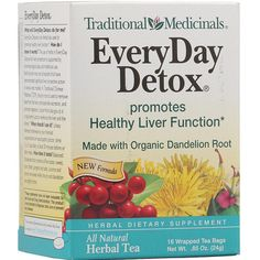 Traditional Medicinals Everyday Detox, Dandelion (6x16 Bag)