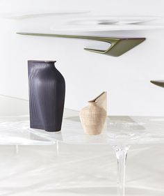 Tableware made from wood for Zaha Hadid by Gareth Neal.