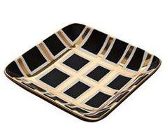 Vivre: Small Black Grid Tray by Waylande Gregory Studios > Trays & Bowls > Entertaining