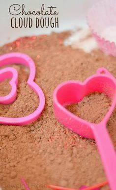 valentines cloud dough and sensory bin nothing says valentines day quite like chocolate making - Cheap Things To Do On Valentines Day