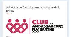 Adhésion au Club des Ambassadeurs de la Sarthe