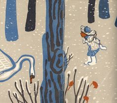 Agniya Barto, Swan sorrow (fragment) - Moscow, 1975. Drawings by Mai Miturich (1925-2008).