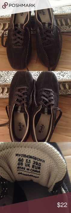 Keds Keds suede shoe. This shoe has a comfy memory foam footbed etc. clean , sporty,  shoe with lots of life left. Shoes