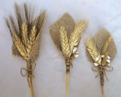 Wheat And Burlap Boutonniere - Perfect For Rustic Or Country Weddings - Groom Groomsmen - Fall Winterburlap boutonniere with wheat - yahoo Image Search ResultsWheat And Burlap Boutonniere - Clever idea for button holes, these would look so smart. Viktorianischer Steampunk, Steampunk Wedding, Wheat Wedding, Fall Wedding, Wedding Burlap, Burlap Boutonniere, Boutonnieres, Wedding Boutonniere, Burlap Corsage