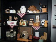 Beautiful country decor shelves