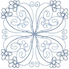Bunnycup Embroidery   Free Machine Embroidery Designs   Country Flowers Quilt Blocks