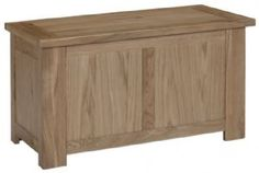 Bron Oak Blanket Box