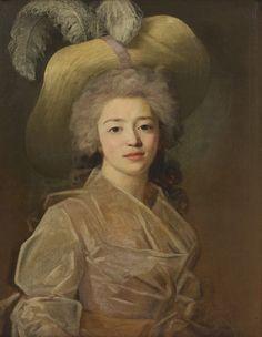 Portrait de jeune femme en buste - Attribué à Jean-Louis Voille - Huile sur toile, 70 x 55 cm, vers 1795 - Musée Jacquemart-André, Paris  © Studio Sébert Photographes