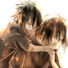 I'll always be here for you, even as an obstacle for you to overcome. That's what big brothers are for. Sasuke X Itachi, Madara Uchiha, Naruto Uzumaki, Boruto, Hakkenden, Naruto Team 7, Funny Naruto Memes, Anime Child, Bishounen