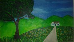 A casa e os girassóis - - Pintura (Acrílica) - Juliano Silva