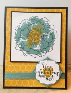 Catherine Loves Stamps: Blended Bloom, Work of Art, Moonlight DSP, Apothecary Accents framelits
