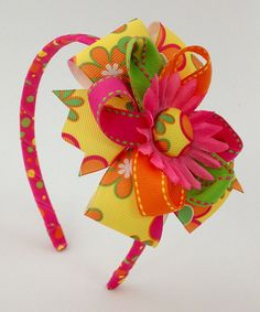 Another great find on #zulily! Yellow Pinwheel Loops Headband by Fairy Bow Mother #zulilyfinds