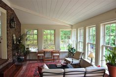 interior sunroom windows 35 58 x 64 7/8 via gulfshore design