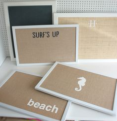 Coastal bulletin boards.