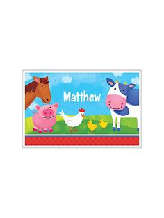 Farm Animals Personalized Placemat
