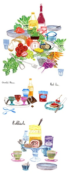 Food illustrations for Apartamento Magazine by Emily Robertson