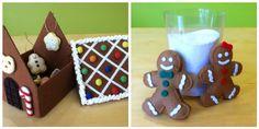 Felt Gingerbread House & Tree Ornaments