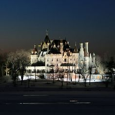 Alexandria Bay, NY's Boldt Castle in winter - How I picture Rourke and Eve's home from the In Death series by J.D. Robb