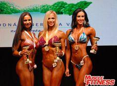Majstrovstvá Slovenska žien SAKFST 2016 Bikini fitness nad 169 cm: 2. Veronika Guľášová, 1. Saskia Cakoci, 3. Helena Antalová.