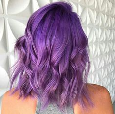 30 Hairstyles Fall Winter Ultraviolet - All For Hair Color Trending Hair Color Purple, Cool Hair Color, Green Hair, Hair Colours, Blue Hair, Bright Purple Hair, Purple Lilac, Pastel Hair, Pink Yellow