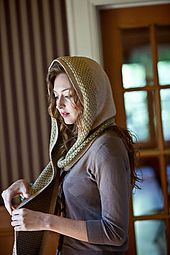Ravelry: Wintersweet Scarf pattern by Heather Zoppetti. Interweave Knits, Holiday Knits 2010. No pointy hood