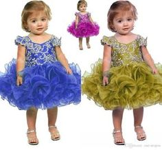 2017 Toddler Cupcake Pageant Dress Crystal Beaded Little Girls Birthday Party Gowns Organza Ruffles Kids Flower Girl Dresses Baby Dresses Baby Girl Dresses From One Stopos, $92.47| Dhgate.Com