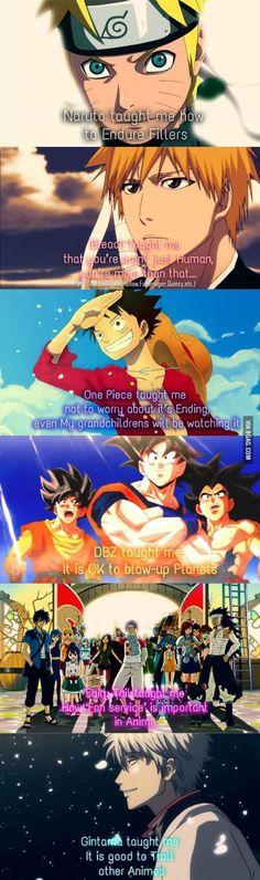 Alternate anime meanings