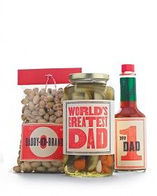 These retro labels make it a cinch to turn any of Dad's favorite foods into a custom gift for Father's Day.