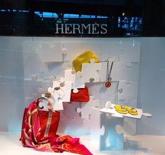 "Hermés Vancouver Airport Canada,""The Art of Simplicity is a Puzzle of Complexity"", pinned by Ton van der Veer Fashion Window Display, Window Displays, Store Displays, Retail Windows, Shop Windows, Trade Show Design, Store Design, Best Windows, Window Styles"
