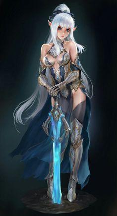 Elf female warrior
