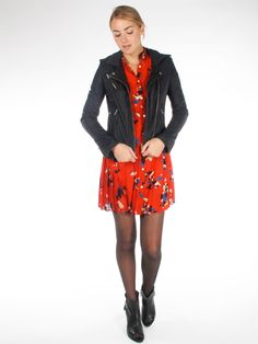 Thomas Sires Dress + IRO Leather Jacket