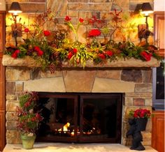 Lush and amazing mantel!!-- www.aspenbranch.com