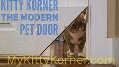 cat room ideas Our patented sliding locking hinge allows you to turn your existing interior door into a pet portal with only one cut Pet Door, Window Dog Door, Sliding Door Dog Door, Diy Doggie Door, Baby Door, Animals And Pets, Cute Animals, Animal Room, Cat Room