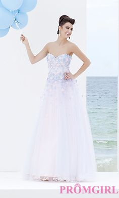 Tony Bowls Strapless Prom Gown at PromGirl.com