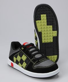 Black & Lime Lego Sneakers