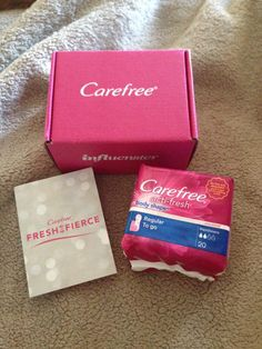 Thanks to @influenster and #carefree for the samples to review! #freshisfierce