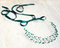 Wedding Hair Accessories – 11_Emerald Wedding, Headband, Bridal Crown, Green – a…