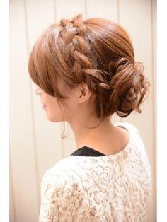 ミエルヘア miel hair 【mielhair新宿】結婚式やパーティーにおすすめ☆編みこみセット Girl Hairstyles, Wedding Hairstyles, Guides De Style, Look Good For You, Hair Arrange, Mori Girl, Shaggy, Amazing Women, Party Dress
