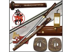 Ryumon Golden Sakura Folded Katana