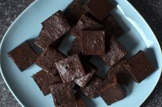 really dark cocoa brownies by smitten (these are absolutely delicious)