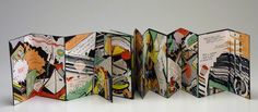 Math, is there a problem? by Rosaire Appel. edition of Abstract comic drawings with text lifted from a 1905 math book. Accordian Book, Concertina Book, Accordion Fold, Folded Book Art, Book Folding, Book Sculpture, Paper Sculptures, Comic Drawing, Teaching Art