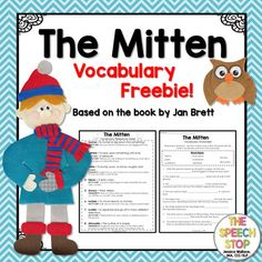 """This free product includes a vocabulary reference sheet and fill-in-the-blank worksheet for select vocabulary words from """"The Mitten,"""" by Jan Brett.  The reference sheet contains definitions and ideas to help students visualize or act out each word.  The worksheet includes a word bank, and is a great way for students to use context clues to help them define words from the story."""
