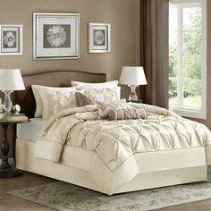 Laurel Lafayette Piedmont 7 Piece Comforter Set Laurel by Madison Park Ivory - MP10-433
