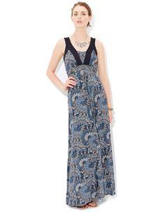 Finola Maxi Dress   Blue   Monsoon
