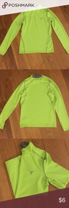 "Boy's Old Navy ""Active"" Top Excellent gently used condition.  Great two-tone bright green & gray athletic shirt Old Navy Shirts & Tops Tees - Long Sleeve"