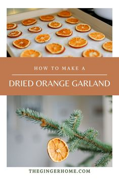 DIY Christmas Orange Garland // diy christmas decor // minimal christmas decor // scandinavian christmas decor // minimalist christmas DIY // Easy christmas diy // zero waste christmas // dried orange garland DIY // how to dry oranges // easy orange garland #diychristmas #homemadechristmas #rusticchristmas #scandichristmas